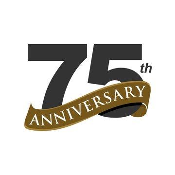75 Years Anniversary Vector Template Illustration Design. Vector EPS 10.