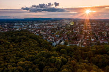 Sonnenuntergang in Hannover mit Eilenriede / Sunset in Hanover