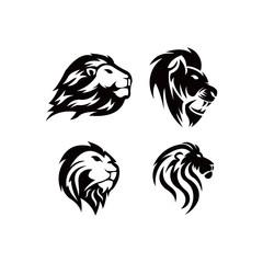 Set of Lion head. Logotype of vector template. inspiration logo lion head