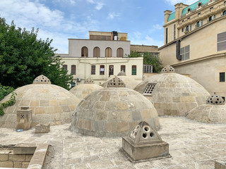 Azerbaijan, Baku city. Ancient Hamam of Kasum Bek in the historic district of Icheri Sheher (Old town) in Baku