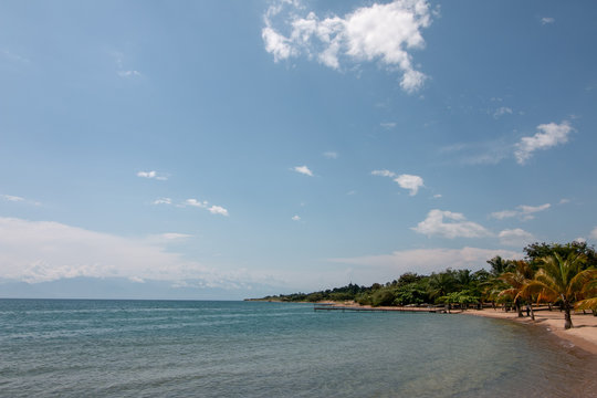 Beautiful coastline of Lake Tanganyika near Rumonge in Burundi. An off-the-beaten-track location for adventurous tourists