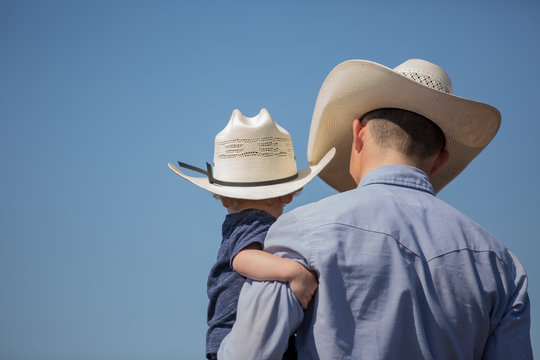 Cowboy and his son