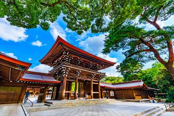 Foto auf AluDibond Schokobraun 明治神宮 東京都 観光地