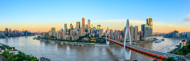 Modern metropolis skyline,Chongqing,China,Chongqing panorama. Fototapete