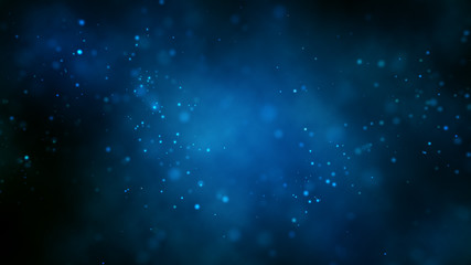 Abstract bright glitter blue background out of focus.3 d render. Wall mural