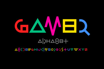 Game style font