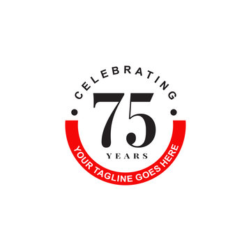 75th years celebrating anniversary icon logo design vector template
