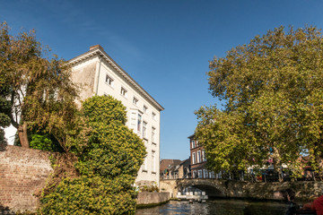 Wall Murals Bridges Classic panoramic view of the historic city center of Brugge