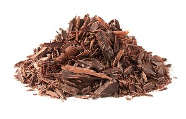 Chopped chocolate stack