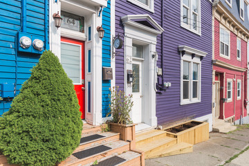 Traditional house in St John's downtown, Newfoundland, Canada