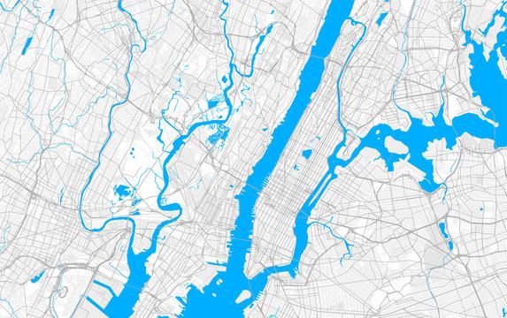 Rich detailed vector map of West New York, New Jersey, United States of America