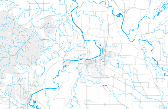 Rich detailed vector map of Albany, Oregon, United States of America