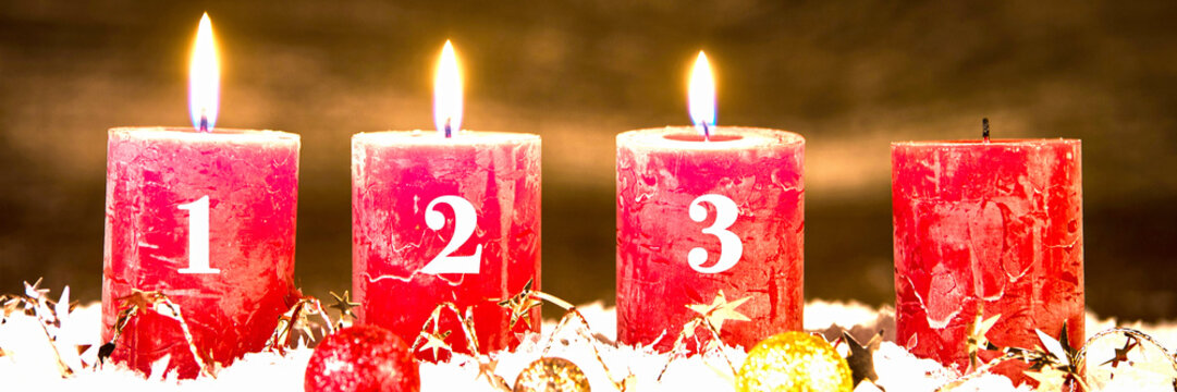 adventsgesteck, dritter advent