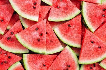 Wall Mural - slice of watermelon as textured background