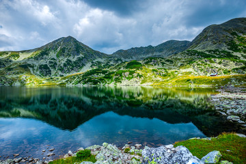 Poster Groen blauw Landscape in Retezat Mountains, Romania