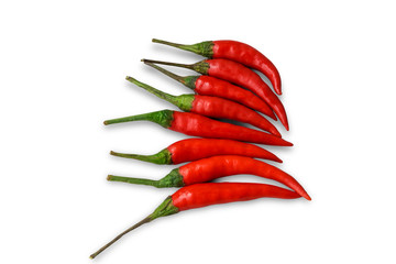 Canvas Prints Hot chili peppers red hot chili pepper on fork isolated on white background