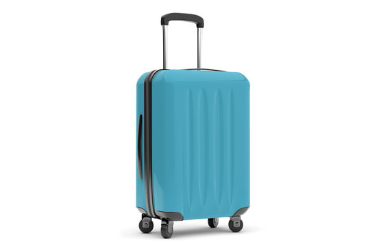Isolated suitcase on a background