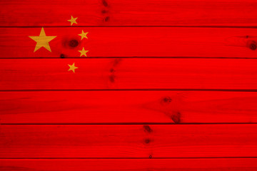 photo of the national flag of China on a luxurious texture, closeup, copy space, concept of travel, economy and state policy, illustration