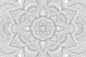 Art for adult coloring book with abstract pattern