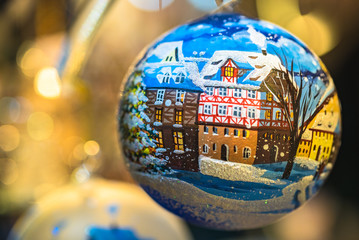 Handmade Christmas ornament at famous Nuremberg Christmas market