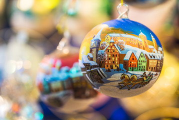Traditional christmas ornament at Nuremberg christmas market