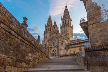 Santiago de Compostela Cathedral, Galicia, Spain Fotomurales
