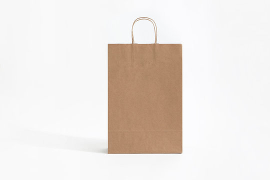 big brown paper bag for groceries front