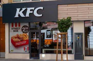 Kentucky Fried Chicken Restaurant Sign is a fast food restaurant chain headquartered in United States specialized in chicken.