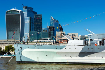 HMS. Belfast cruiser in 13. September 2019. London ( UK )