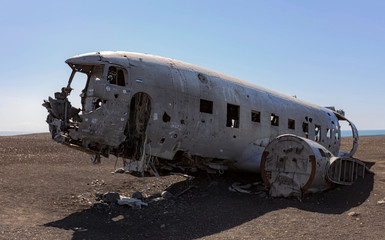 Avion abandonné en Islande