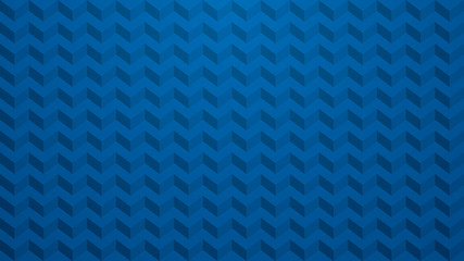Blue chevron background.