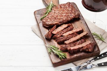 Fototapete - Grilled beef steak