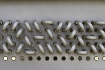 Metal tubing in a manifold