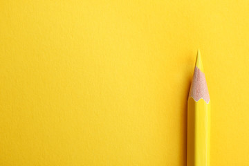 Color pencil on yellow background. Space for text
