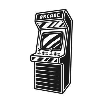 Arcade retro video game machine vector object