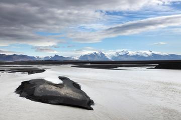 Volcanic alpine landscape in Skaftafell Natural Park, Iceland, Europe