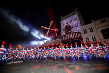 130th anniversary of the Moulin Rouge cabaret in Paris