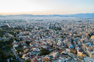 Foto op Canvas Aerial view of Athens, Greece