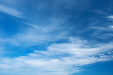 Wall Mural - blue sky background with white clouds