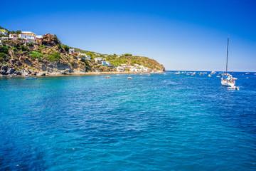 Amazing beach of island Panarea in Mediterranean sea