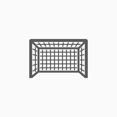 football goal icon, soccer goal vector