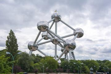 Atomium (iron atom model) in Brussels, Belgium