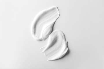 Natural cream on white background