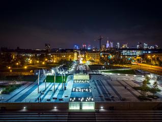 Warszawa - bulwary nocą