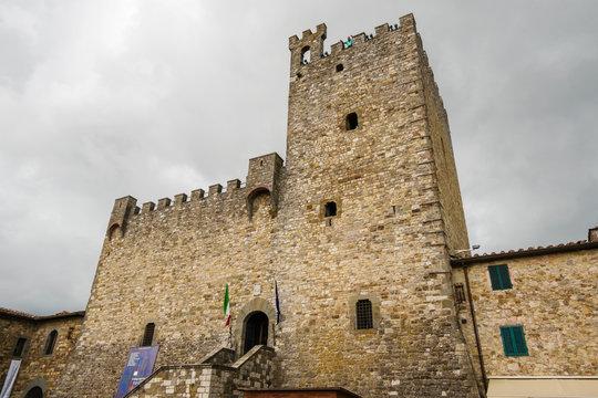 Castellina in Chianti, Italy - September 19, 2018: The castle of Castellina in Chianti, Tuscany