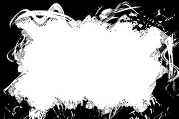 An abstract photocopy grunge border background.