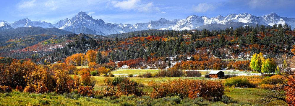 Scenic Mount Sneffles landscape in western Colorado