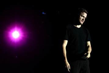 Imagine Dragons lead vocalist Dan Reynolds performs at the Rock in Rio Music Festival in Rio de Janeiro