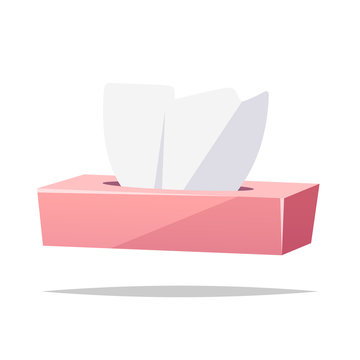 Tissue box vector isolated illustration