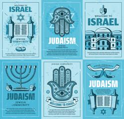 Israel menorah, jewish religion torah, David Star